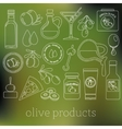 olives outline icons vector image vector image