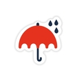 paper sticker British umbrella on white background vector image vector image