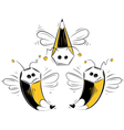 pencil bees vector image