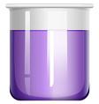 Purple liquid in glass beaker vector image vector image