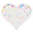 ring fireworks heart vector image vector image