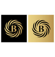round emblem with letter b on dark and gold vector image