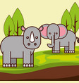 safari animals cartoon vector image vector image