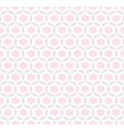 seamless symmetrical pattern of light pink figures vector image