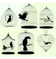 Set of birdscages vector image vector image