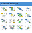 set of renewable energy sources and power vector image