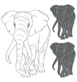 Set of with the elephant vector image vector image
