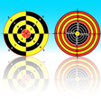 set targets for practical pistol shooting exercise vector image vector image