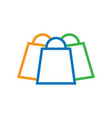 shopping bag logo icon image vector image