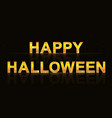 sign happy halloween vector image vector image