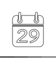 simple calendar icon design vector image