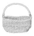 sketch of wicker basket vector image vector image