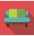Small sofa icon flat style vector image vector image