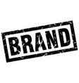 square grunge black brand stamp vector image vector image