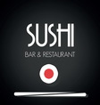 sushi menu2 vector image