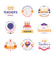 teachers day isolated icon literacy and education vector image