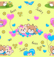teddy bears seamless pattern vector image vector image