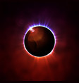 total eclipse of the sun vector image vector image