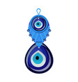 turkish traditional glass amulet boncuk evil eye vector image vector image