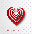 Valentine card with red and white hearts vector image vector image