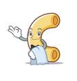 waiter macaroni mascot cartoon style vector image vector image