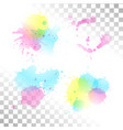watercolor transparent stain set of ink vector image