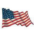waving union flag 1861-1863 vector image vector image