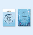 wedding cards set invitation save date rsvp vector image