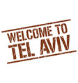 welcome to tel aviv stamp vector image vector image