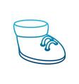 cute boot cartoon vector image