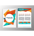 Abstract Orange and Blue Triangle design Brochure vector image vector image