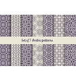 Arabic patterns set vector image vector image