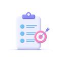assignment target icon clipboard checklist symbol vector image vector image