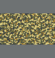 autumn yellow camouflage pattern seamless fabric vector image vector image