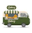 bakery street food caravan trailer vector image vector image