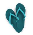 beach flip flop icon vector image vector image