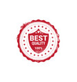 best quality sticker red grunge stamp isolated vector image vector image