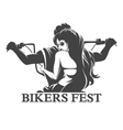 Bikers Fest Emblem vector image vector image