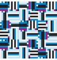Blue striped geometry vector image vector image