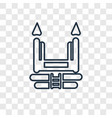 bouncy castle concept linear icon isolated on vector image