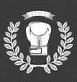 boxing emblem vector image vector image