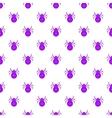 Bug pattern cartoon style vector image vector image