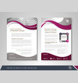 business brochure design vector image vector image