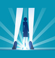 businesswoman stood in sequence and light vector image