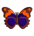 butterfly brown icon cartoon style vector image