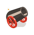 cannon isolated on white background vector image vector image