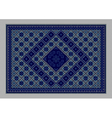 Carpet with ornament of blue shades vector image vector image