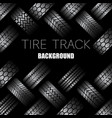 cars tire tracks with text vector image vector image