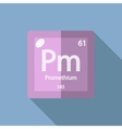 Chemical element Promethium Flat vector image vector image