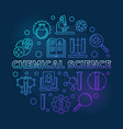 chemical science blue round in vector image vector image